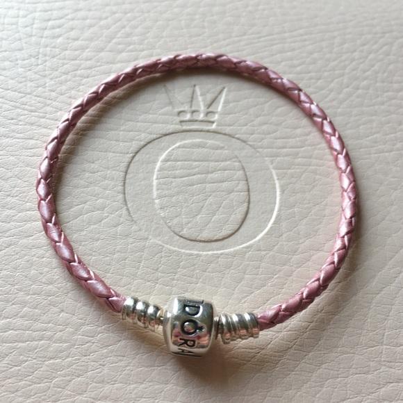 3699b57aa official store pink single leather pandora bracelet 383c9 11bac